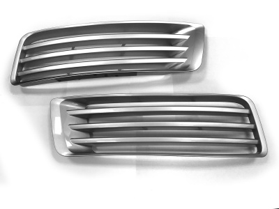 L405 Upgrade Bumper fins AB style Full Silver compatible with Range Rover Vogue L405 2013 Onwards
