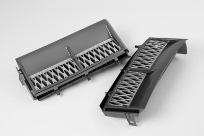 Supercharged Style Side Vents Grey with Silver for Range Rover Vogue 2002-2013 - CLEARANCE WHILE STOCKS LAST!