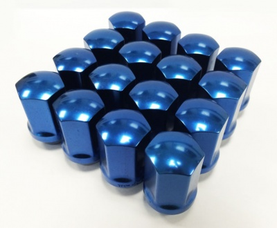 (Set of 10) 12X1.50 19Hex 35mm TPi Xr Alloy Racing Nut Blue