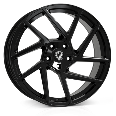 Cades Athena Alloy Wheels 20 inch 5x120 (ET38) | Gloss Black x 4 | fits VW Transporter & Amarok models