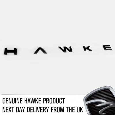 HAWKE Logo Black Bonnet or Boot/Tailgate Letters