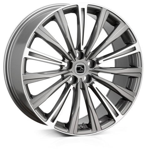 22x9.5 5x108 ET42 HAWKE Chayton Gunmetal Highlighted