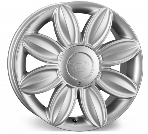 Tansy Daisy Flower Alloy Wheels 16 inch 4x100/108 (ET35) | Silver x 4 | fits Mini, VW, Citroen, Renault, Ford