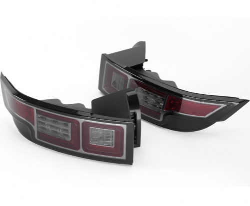 Evoque 2014 Upgrade Rear Led Lights Pair Tinted Lenses with Chrome Internal