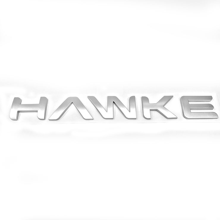 HAWKE Logo Silver Bonnet or Boot/Tailgate Letters