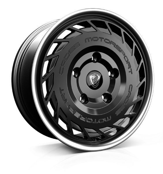 Cades Cades Motorsport (Transit) wheels 18 x 8j 5x160 | Black Lip Polish Set of four | fits Ford Transit Custom models
