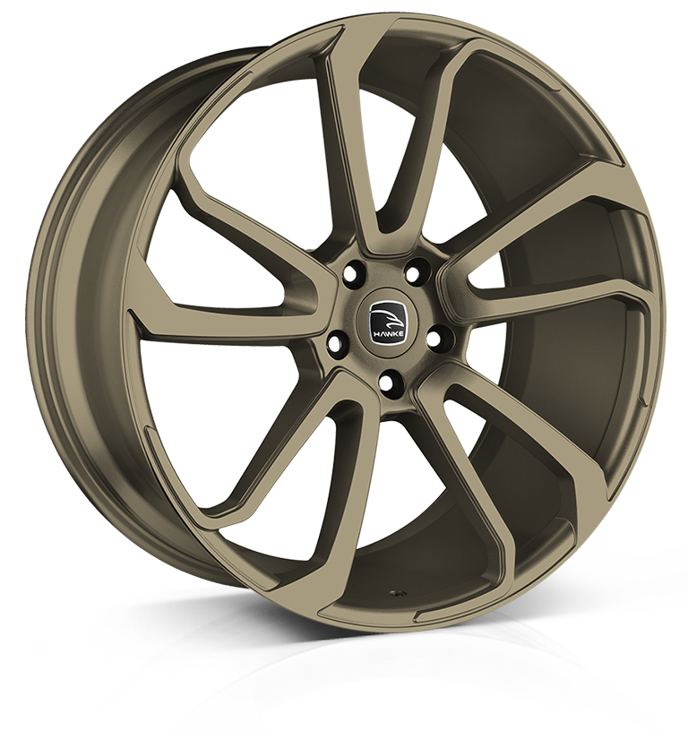 Hawke Falkon wheels 22 x 105j 5x120 | Matt Bronze Set of four | fits Range Rover Sport, Vogue and Discovery models