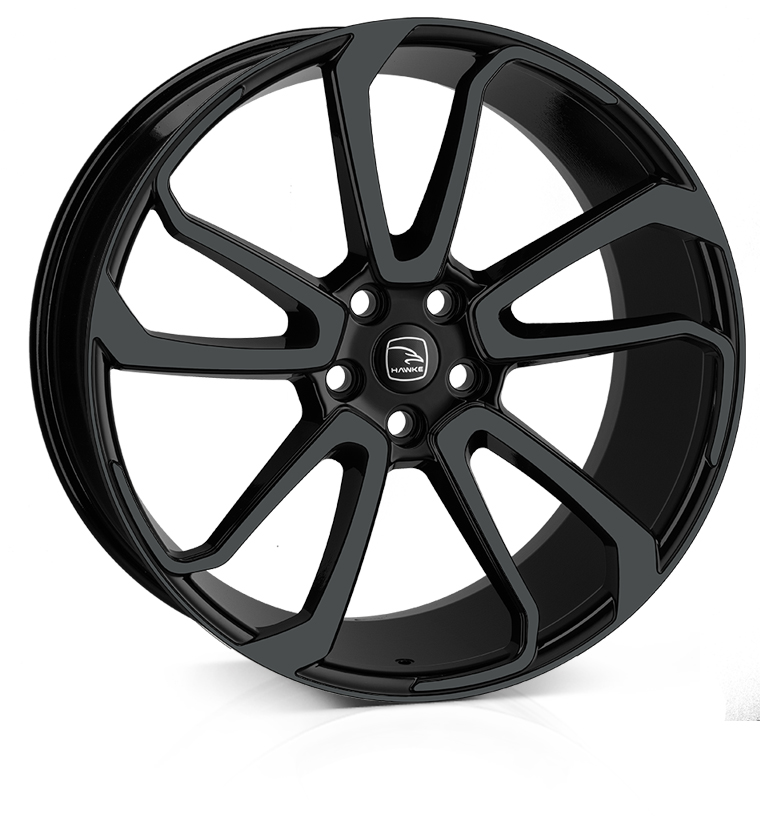 HAWKE Falkon Alloy Wheels 22 inch 5x120 (ET42) | Black x 4 | fits Range Rover Sport, Vogue and Discovery models