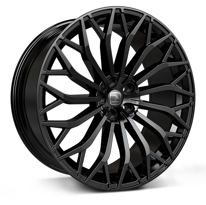 Hawke Zenith wheels 23 x 10.0j 5x108 | Jet Black Set of four | fits Range Rover Velar