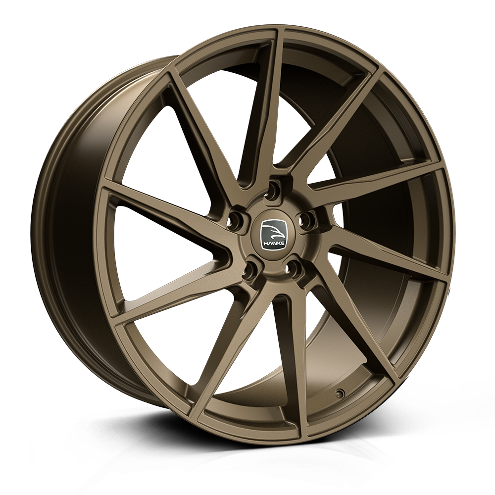 HAWKE Arion Alloy Wheels 22 inch 5x120 (ET42) | Matt Bronze x 4 | fits Range Rover Sport, Vogue and Discovery models