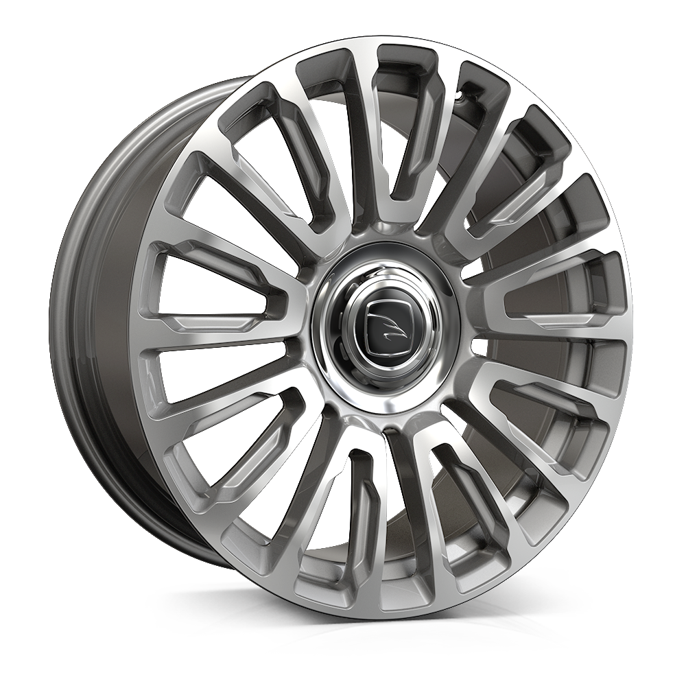 Hawke Dresden wheels 22 x 9.5j 5-120 | Silver Set of four | fits Range Rover Sport, Vogue, Discovery