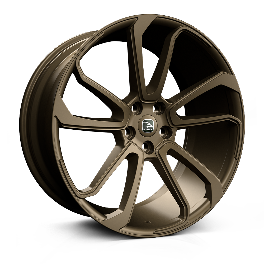 Hawke Falkon Alloy Wheels 22 inch 5x120 (ET42) | Matt Bronze x 4 | fits Range Rover Sport, Vogue and Discovery models