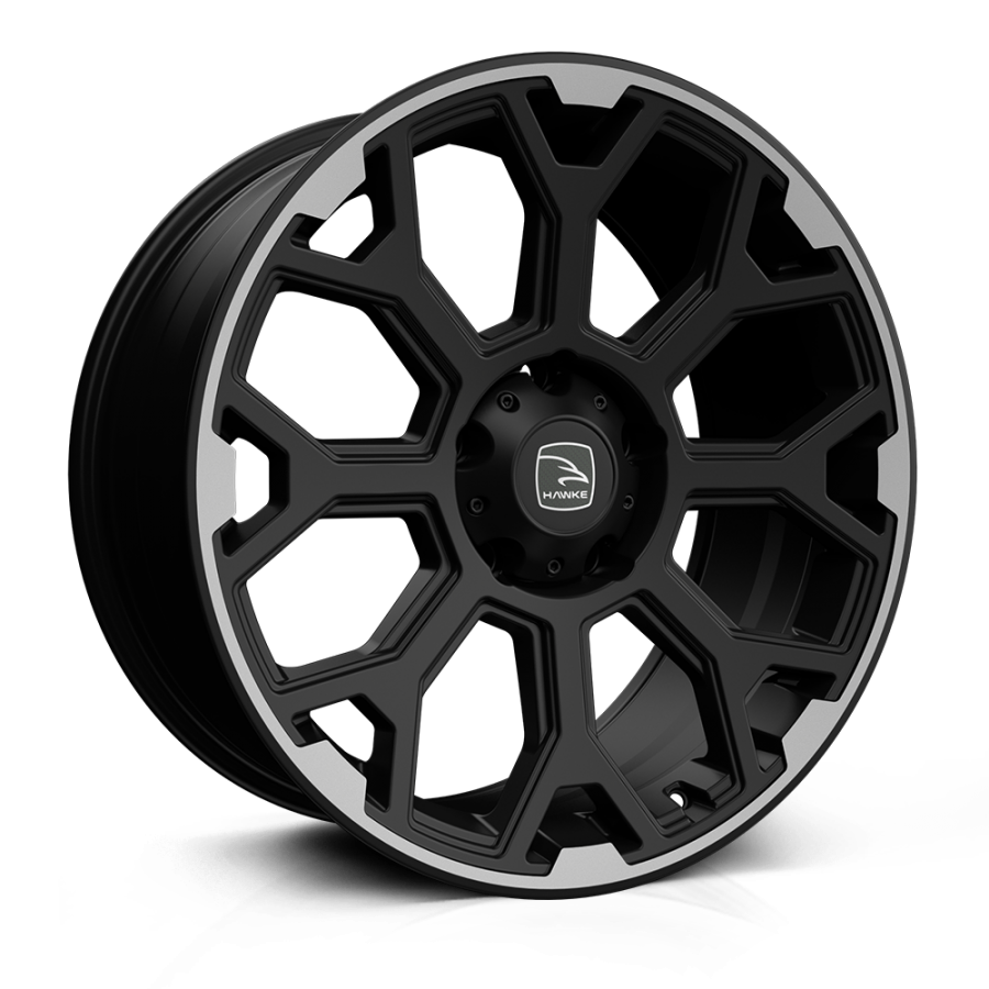 HAWKE Sar Alloy Wheels 20 inch 5x120 (ET30) | Matt Black x 4 | fits VW Transporter & Amarok models