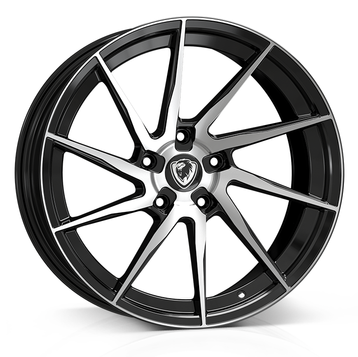 18x8 5x112 ET45 Cades Kratos Gloss Black Polished