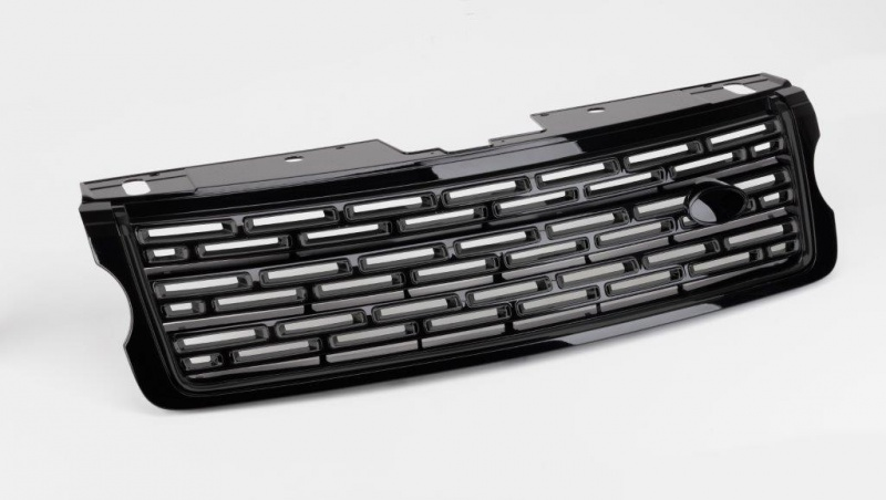 L405 SV Autobiography Look Front Grille Full Black with Black Mesh Range Rover Vogue L405 2013 Onwards