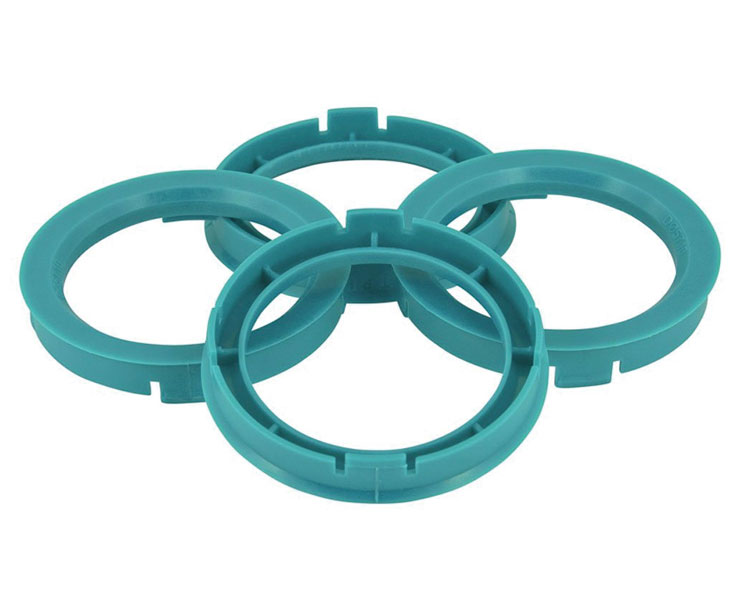 Set of Four Spigot Rings 60.1 - 59.1 Tpi Sea Foam Green