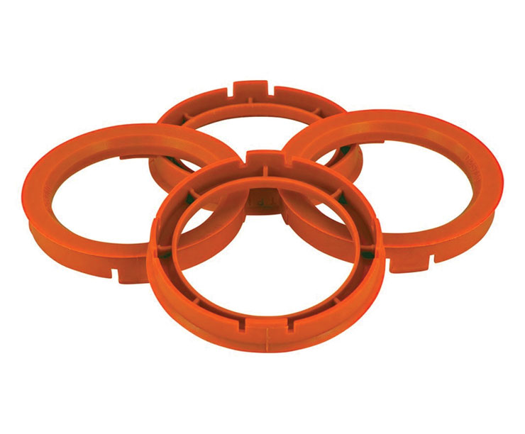 Set of Four Spigot Rings 73.0 - 67.2 Tpi Orange