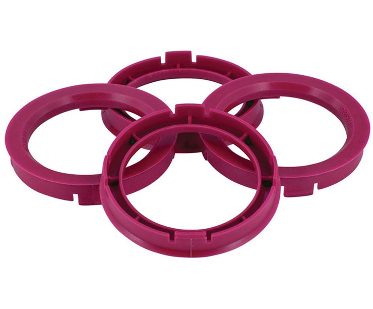 Set of Four Spigot Rings 73.0 - 66.1 Tpi Purple