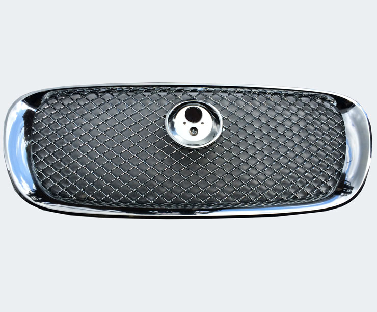Jaguar XF pattern Front Grille - Chrome With Chrome Mesh