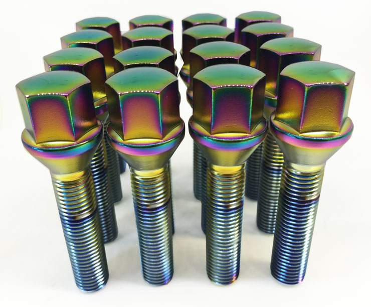 (Single) 14x1.50 50mm Tapered 17 Hex TPi Polarised Bolt