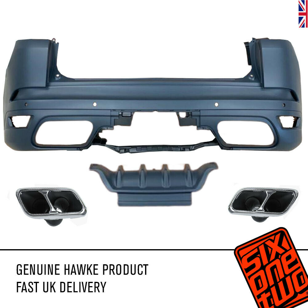 Hawke SVR Style Rear Bumper + Exhaust Tips for Range Rover Sport L494 2014+2017