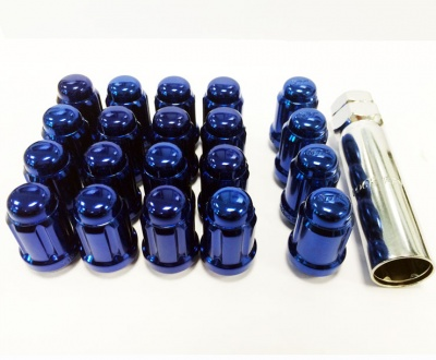 12x1.25 20D 33L TPi SD (Tuner) Nutz Steel Blue 20 Pack with Locks