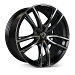Cades Helious wheels 22 x 10j 5-112 | Jet Black Polish Set of four | fits Bentley Continental, GT, GTC and Flying Spur