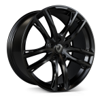 Cades Helious wheels 22 x 10j 5-112 | Jet Black Set of four | fits Bentley Continental, GT, GTC and Flying Spur