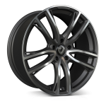Cades Helious wheels 22 x 10j 5-112 | Matt Gunmetal Polish Set of four | fits Bentley Continental, GT, GTC and Flying Spur