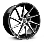 HAWKE Arion Alloy Wheels 23 inch 5x120 (ET40) | Black Polished x 4 | fits Range Rover Sport, Vogue and Discovery models