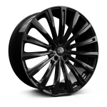 Hawke Chayton wheels 22 x 9.5j 5-108 | Gloss Black Set of four | fits Bentley Continental, GT, GTC and Flying Spur