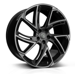 Hawke Condor wheels 22 x 9.5j 5x120 | Black Stealth Set of four | fits Range Rover Sport, Vogue and Discovery models