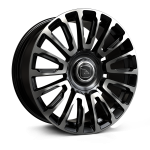 Hawke Dresden wheels 22 x 9.5j 5 x 112 | Jet Black Polish Set of four | fits Bentley Continental, GT, GTC and Flying Spur