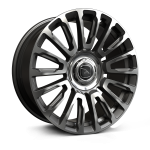 22x9.5 5 x 120 ET18 Hawke Dresden | Single wheel | Gunmetal Polish