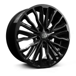 Hawke Harrier wheels 20 x 8.5j 5-108 | Jet Black Set of four | fits Range Rover Velar & Evoque