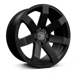Hawke Summit XC wheels 20 x 9j 6x139 | Black Stealth Set of four | fits Ford Ranger - direct fitment