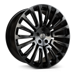 Hawke Talon wheels 22 x 9.5j 5-108 | Jet Black Set of four | fits Range Rover Sport, Vogue, Discovery