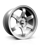 Junk De:bris wheels 16 x 7j 4x100 | Silver Set of four | fits VW Polo, UP, Golf MK1 & MK2, Seat, Clio etc