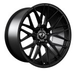 Cades Hera wheels 20 inch 5x114 | Jet Black Set of four with wider rears | fits Ford Mustang