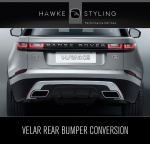 VELAR Silver Conversion for Rear Bumper & Chrome Exhaust