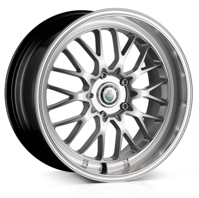 Cades Tyrus Alloy Wheels 19 inch 5x112 (ET45) | Silver lip Polish x 4 | fits VW, Audi and Mercedes models