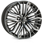 22x9.5 5x108 ET42 HAWKE Vega (Flow Formed) Gunmetal Polished