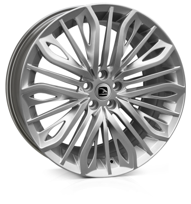 HAWKE Vega Alloy Wheels 22 inch 5x120 (ET35) | Silver x 4 | fits Range Rover Sport, Vogue and Discovery models