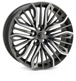 HAWKE Vega Alloy Wheels 22 inch 5x112 (ET30) | Gunmetal Polish x 4 | fits Bentley GT and GTC models
