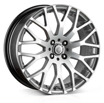 Cades Vienna Alloy Wheels 17 inch 4x100 (ET38) | Silver x 4 | fits Mini, VW, Citroen, E30 3 Series BMW models
