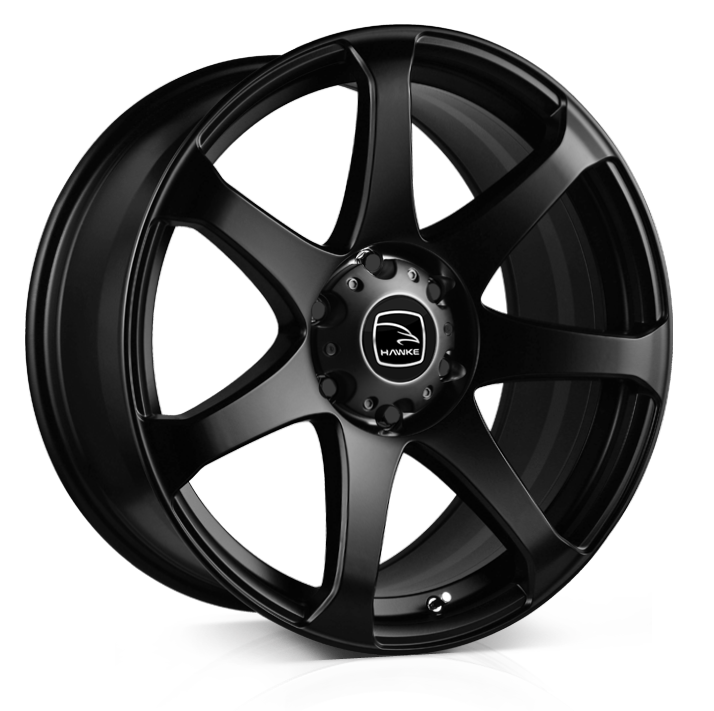 HAWKE Peak XC Alloy Wheels 20 inch 6x139 (ET10) | Matt Black x 4 (COMPATIBLE WITH WIDE ARCH MODELS) | fits Ford Ranger, Mitsubishi L200 and Toyota Hilux models
